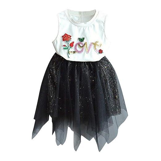 1fa22c01963 Riverdalin Toddler Kids Baby Girls Summer Skirt Outfits Sets Letter Print T- Shirt Tops+ Sequin