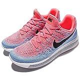 Nike Women Lunarepic Low Flyknit 2 Running hot punch black-aluminum-university blue Size 9.0 US
