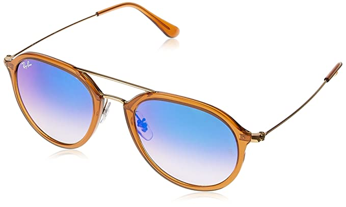 Ray-Ban 4253, Gafas de Sol Unisex, Marrón/Bronce-Cobre/Azul Degradada (Shiny Brown), 53