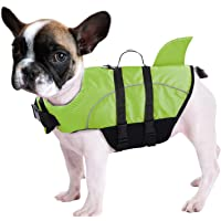 Queenmore Ripstop Dog Life Jacket Shark Life Vest for Dogs, Safety Lifesaver with High Buoyancy and Lift Handle for…