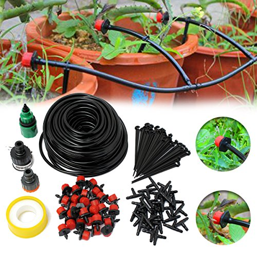 Cheap KINGSO 82ft Micro Drip Irrigation Kit System Blank Distribution Tubing Irrigation Sprinkler System Kit Self Plant Garden Hose Watering Kit