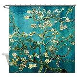 CafePress Van Gogh Almond Blossoms Tree Shower Curtain - Standard White