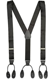 28ddc43e5c4 Hold Em 100% Silk Suspenders For Men Y-Back Button End Made in