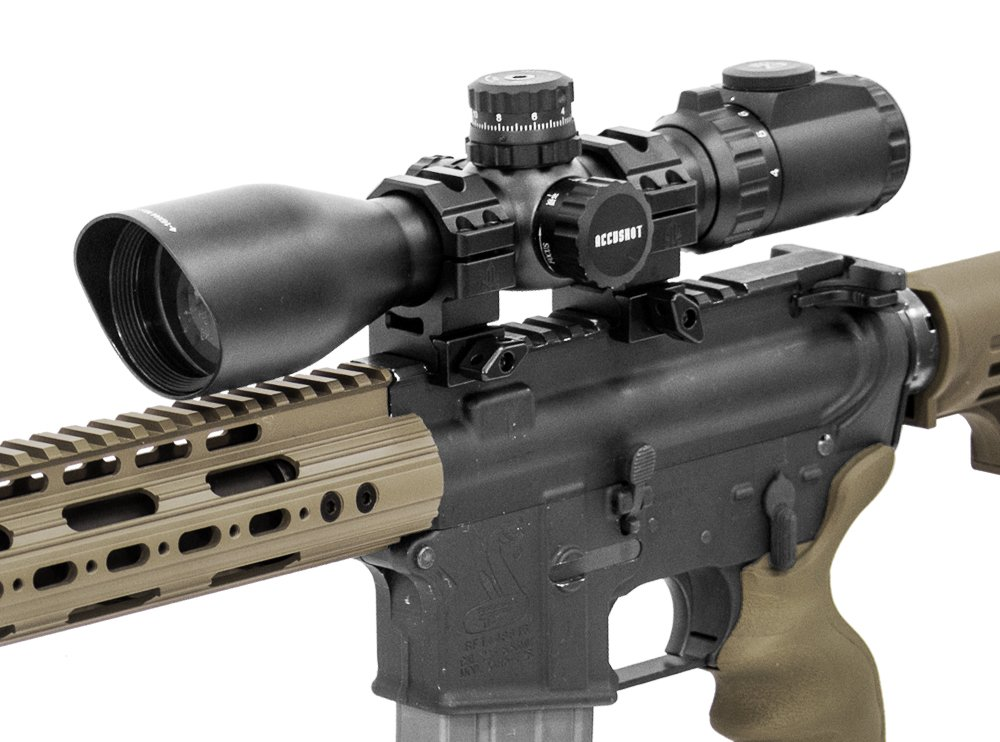 UTG 4-16X44 30mm Compact Scope, AO, 36-color Mil-dot, Rings