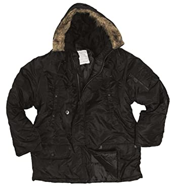 1c62c406ff6 Amazon.com  Mil-Tec Black N3B Flight Jacket  Clothing