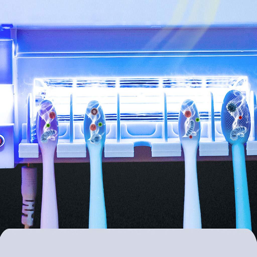 Toothbrush Storage Holder Silver Toothbrush Sterilizer USB Dental UV Cleaner Kidirt