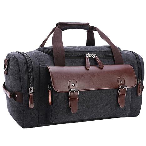 84d24671e2 eYourlife2012 Weekender Canvas Travel Luggage Gear Tote Duffel Shoulder  Handbag Overnight Bag