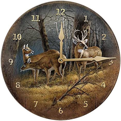 Wild Wings Leaving The Sanctuary – WTD Round Clock by Terry Redlin