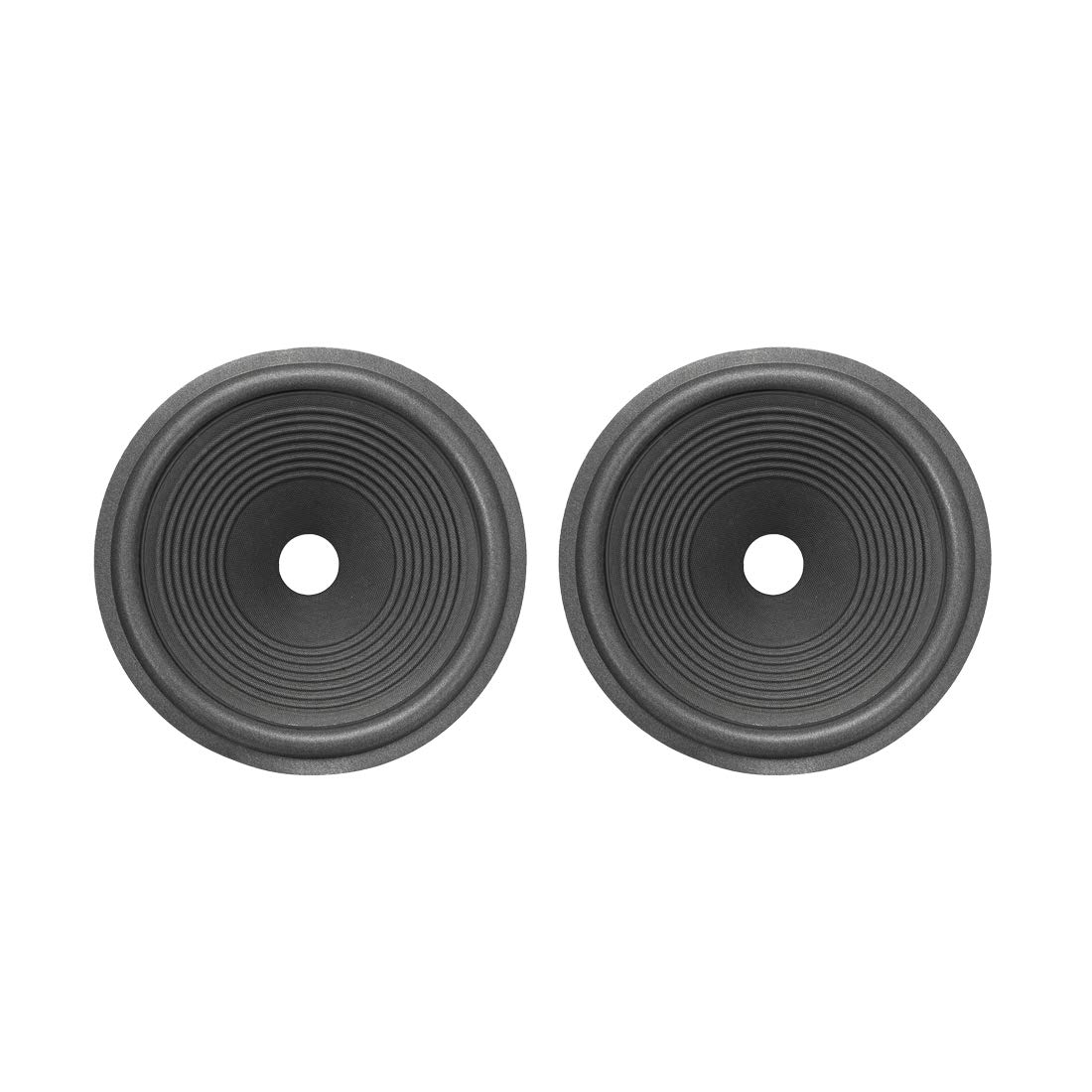 uxcell 10'' Paper Speaker Cone Subwoofer Drum Ripple Paper 1.4'' Coil Diameter with Foam Surround Dark Grey 2 Pcs