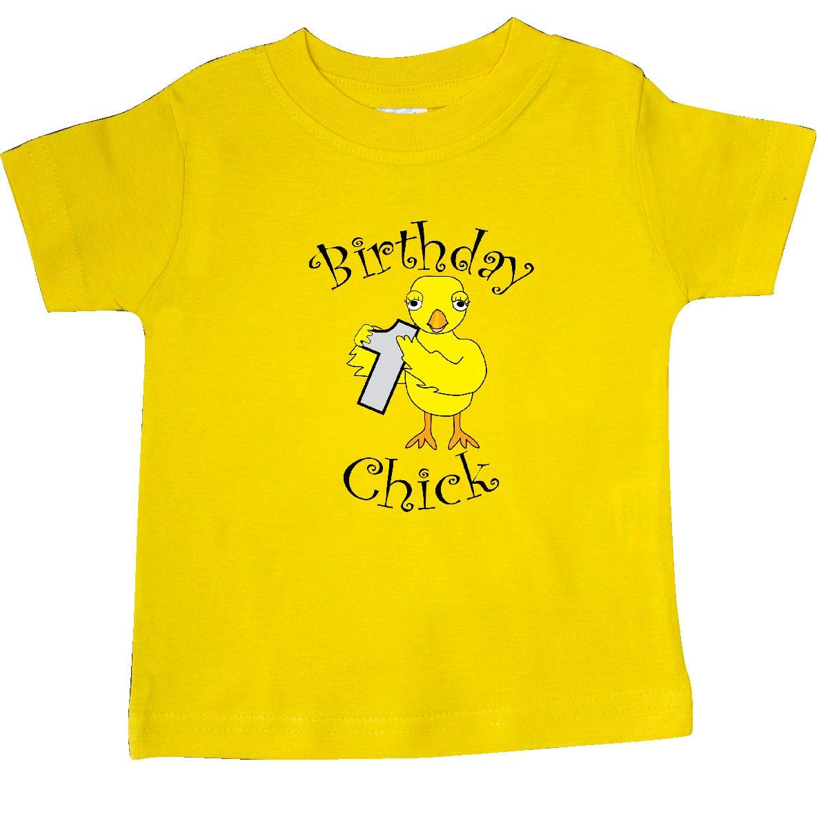 inktastic Birthday Chick Number 1 Baby T-Shirt