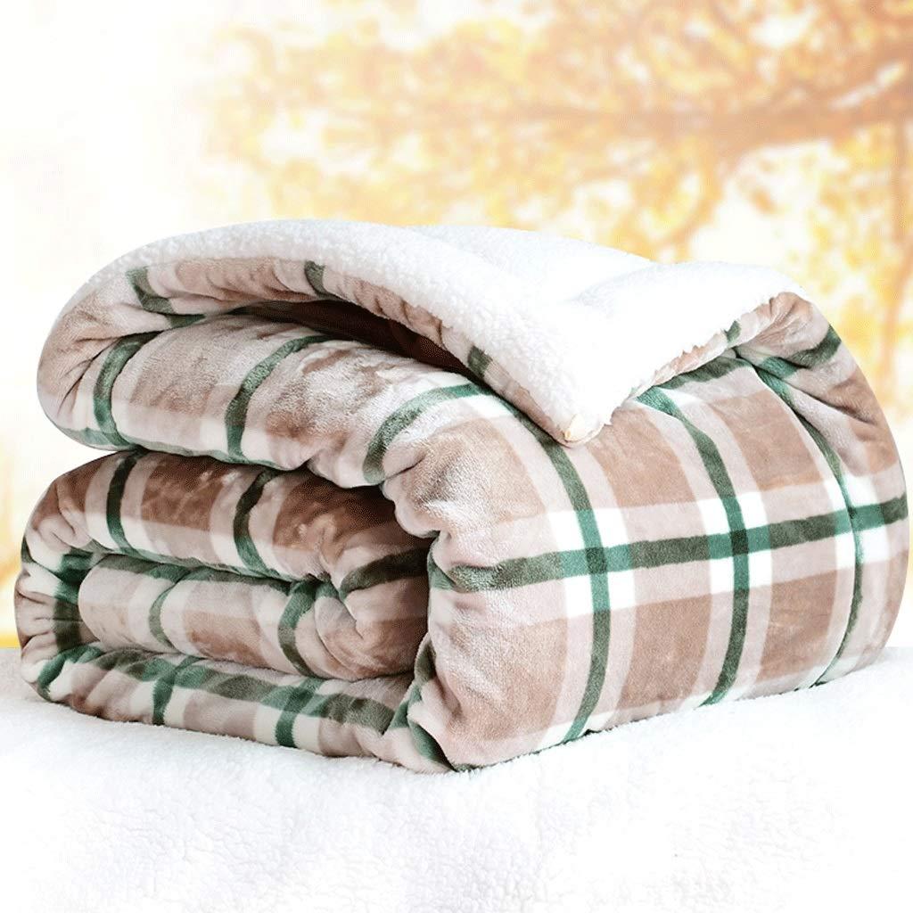 毛布 (色、模造子羊の毛の二重厚いフランネル毛布 A3,、格子キルト毛布 (色 : A3, 200X230cm サイズ さいず : 200X230cm) 200X230cm A3 B07Q8KNZ6C, 大和町:477d9226 --- ijpba.info