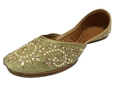 Schritt N Style Damen Handgefertigt Schuhe Flat Ballerina Flach Sandalen Flipflop Khussa Juti Step n Style 100% Authentisch ezfwNK0