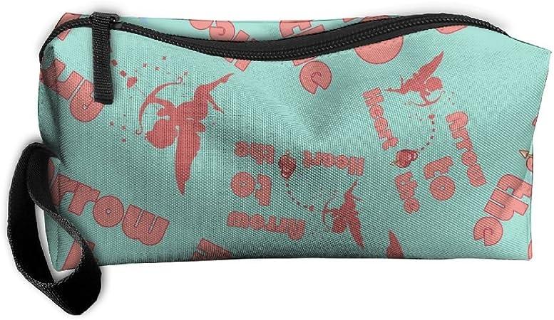 La flecha de Cupido Amor a las corazón portátil 3d impresión equipaje embalaje organizadores estuche de viaje bolsas de cosméticos con cremallera: Amazon.es: Hogar