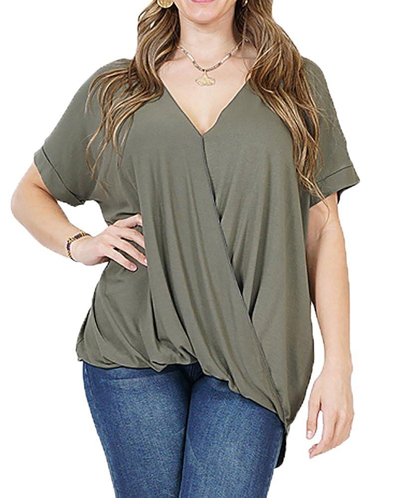 415f6aa3 Women tops,loose t shirts, plus size tunics for women, v neck t shirts  women, wrap tops, short sleeve t shirt tunic tops.