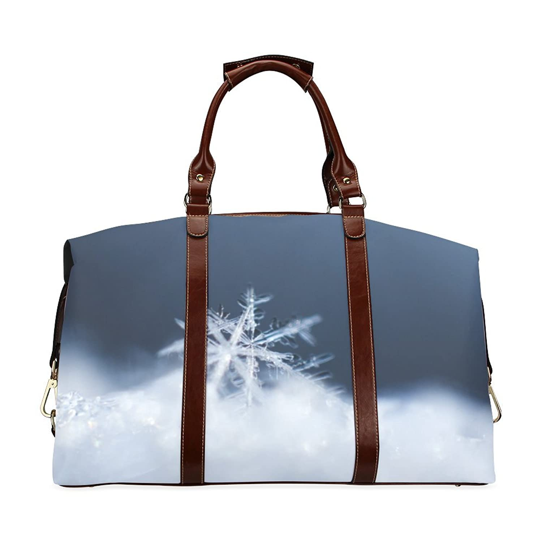 Snowflakes Custom Waterproof Fabric Two-sided Printing Flight Bag