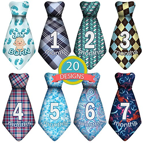 Baby Monthly and Holiday Milestone Sticker Ties -