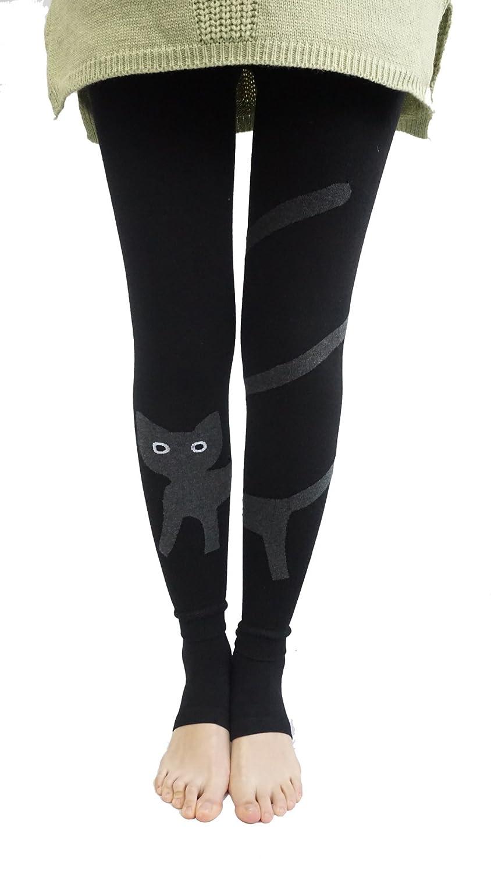 Honeystore Women's Pattern Cotton Knit Tights Spring / Winter Leggings Pantyhose HSA20151130-04-522594860666-BK-H