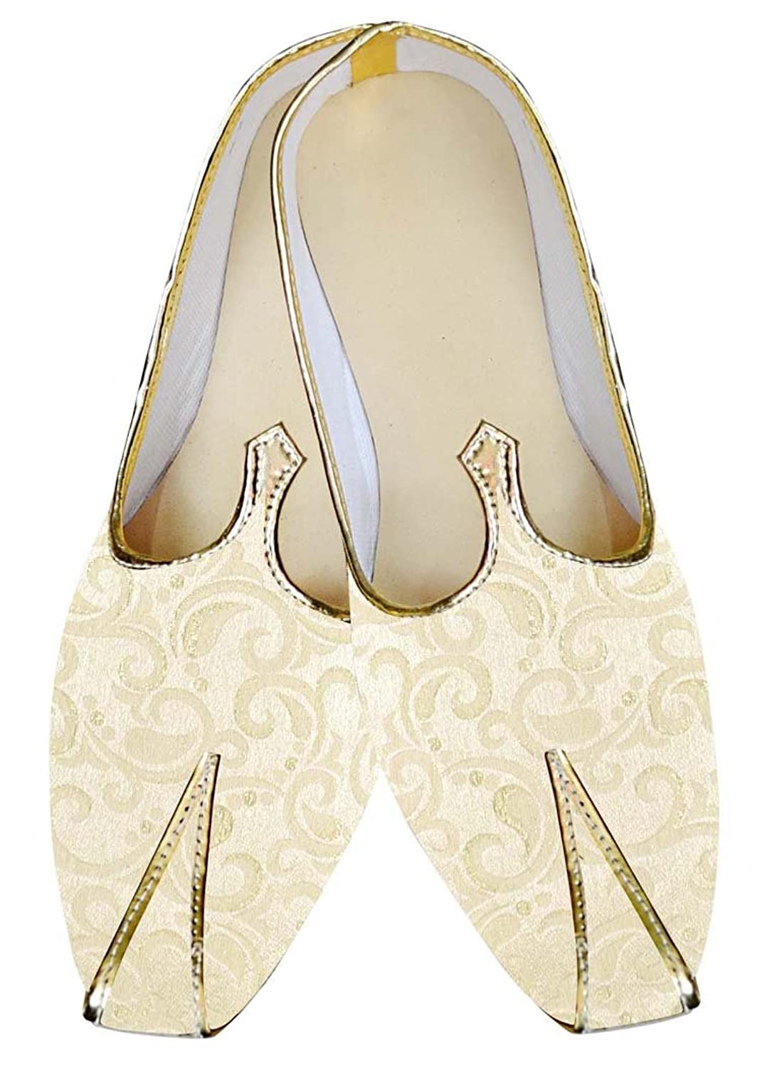 Mens Ivory Wedding Shoes Stylish Look MJ014841