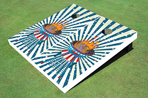 Floating Pong Patriot Grill Cornhole Boards, 2x4 (24