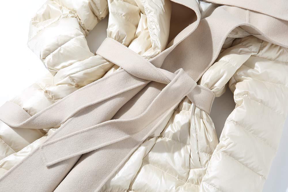 Henziy Womens Down Jacket Featherless Hoody Insulated Jackets Warm Outdoor Coat