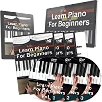 Learning Piano for Beginners Training - 3 DVDs and 2 Free Bonuses - Perfect Piano Tutorials for Children and Adults who want to Learn To Play Piano the Right Way