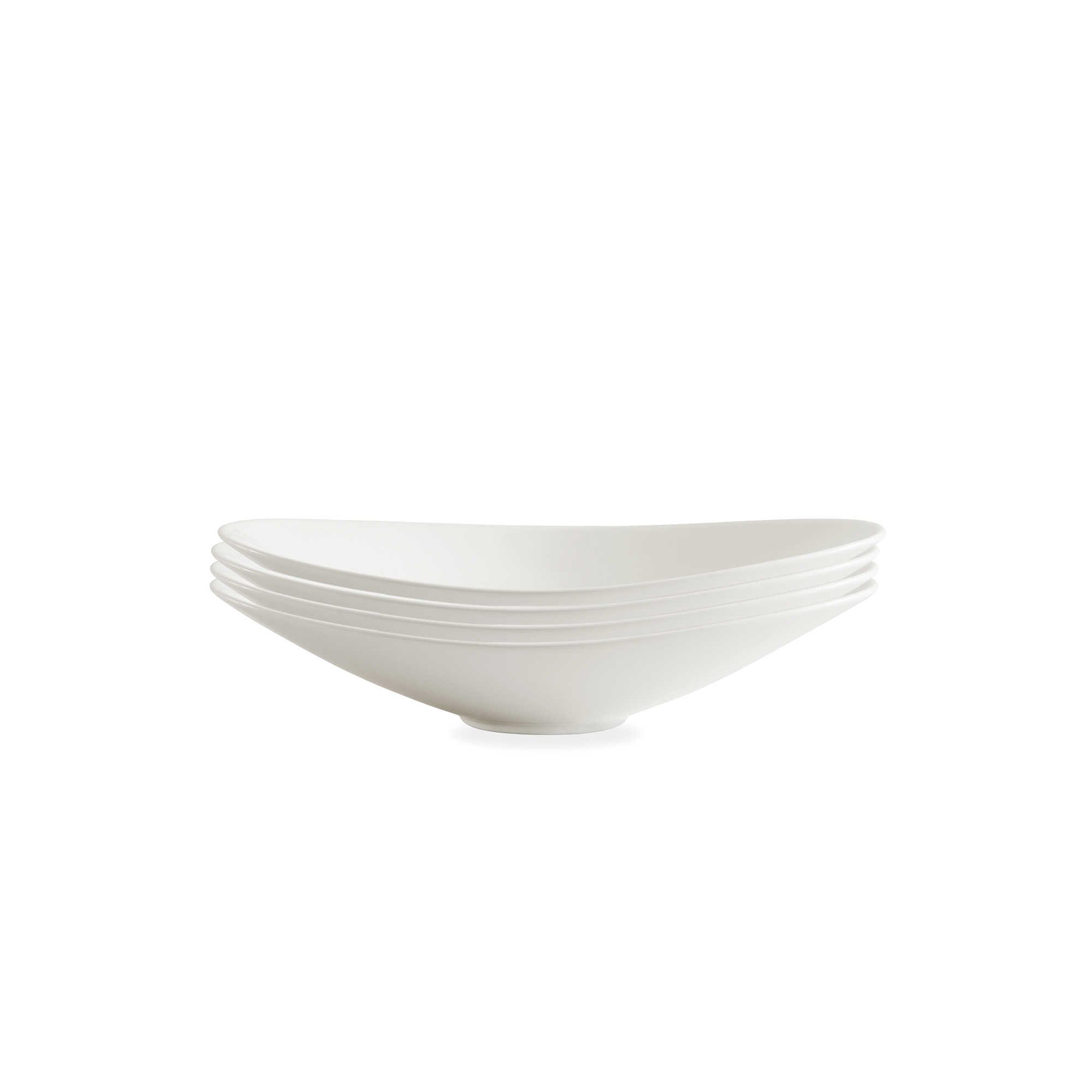 Fortessa Accentz 9.5-Inch Oval Coupe Bowls in White (Set of 4)   Measures 9.5'' L