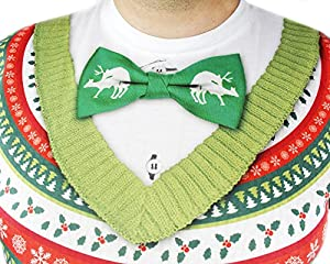 Faux Real Men's Ugly Christmas Sweater Long Sleeve Shirt