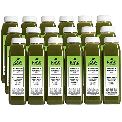 Raw Generation Refresh & Revitalize Juice - Healthiest Way to Lose Weight & Stay Strong - Plant-Based Protein Smoothies & Juices - FREE Shipping (18) by RAW generation