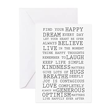 Amazon Com Cafepress Positive Thoughts Greeting Cards Pk Of 10