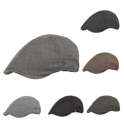 abc2e74f093 Nacome Unisex Newsboy Flat Cap Gatsby Caps Fashion British Style Peaked Cap  Baseball Hat for Women