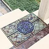 LongYu Carpet rug Rubber mat door bathroom kitchen anti-slip door mat rub plastic soil mats design pattern (Size : 60×90cm, Style : B)