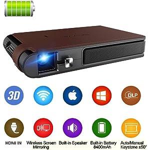 Amazon.com: ZUEN Mini Projector C80 UP, 1280X720 Resolution ...
