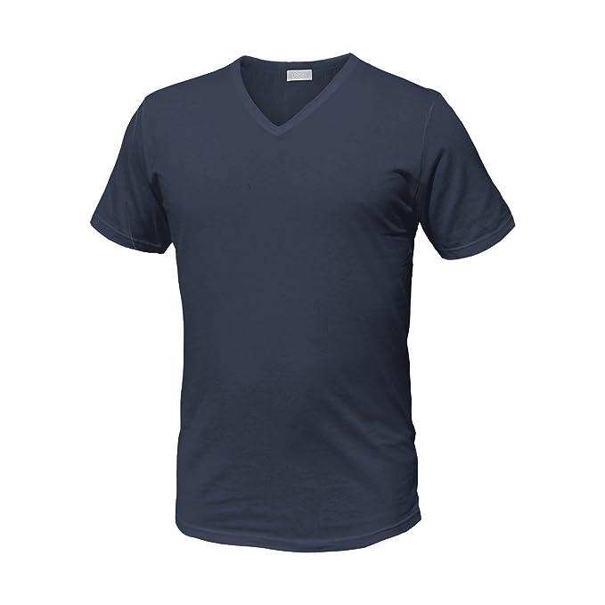 5e3db66a22 Liabel Maglie Intime T Shirt Uomo 100% Cotone Pacco da 3 Pezzi Mezza Manica  Girocollo e Scollo a V Bianche e Colorate
