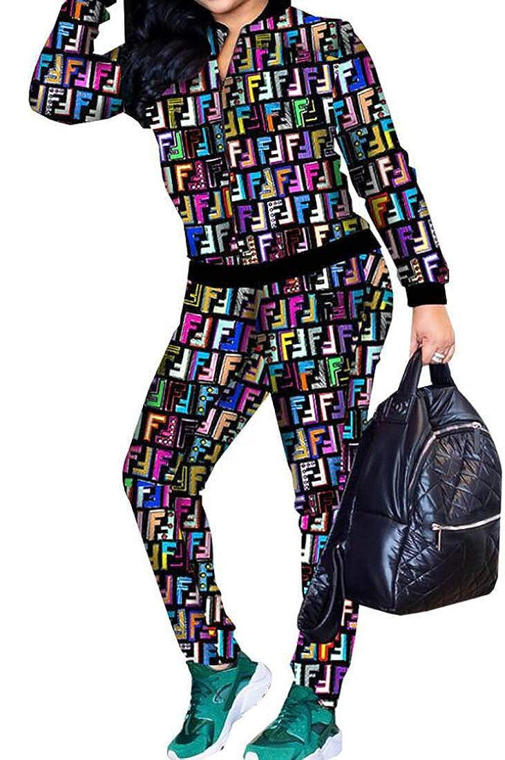 Zantt Mens 2 Pieces Zipper Plus Size Jacket and Pants Sweatsuit Outfit Set
