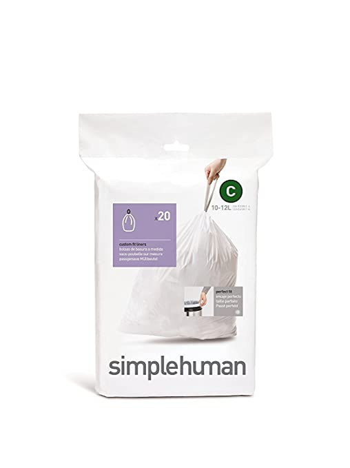 simplehuman Custom Fit Trash Can Liner C (20 ct)
