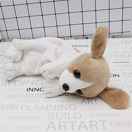 Estuche de felpa para lápices Kawaii, diseño de cachorro de peluche, ideal para la escuela, la oficina, para niños, regalo de Navidad, color blanco: Amazon.es: Oficina y papelería