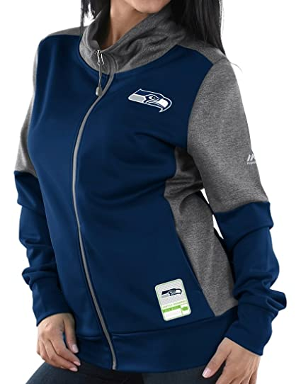 Image Unavailable. Image not available for. Color  Seattle Seahawks Women s  Majestic NFL  quot Quick Out quot  Full Zip Sweatshirt 0eeac431d