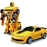SME Battery Operated Converting Car to Robot, Robot to Car Automatically,Transformer Toy, with Light and Sound for Kids