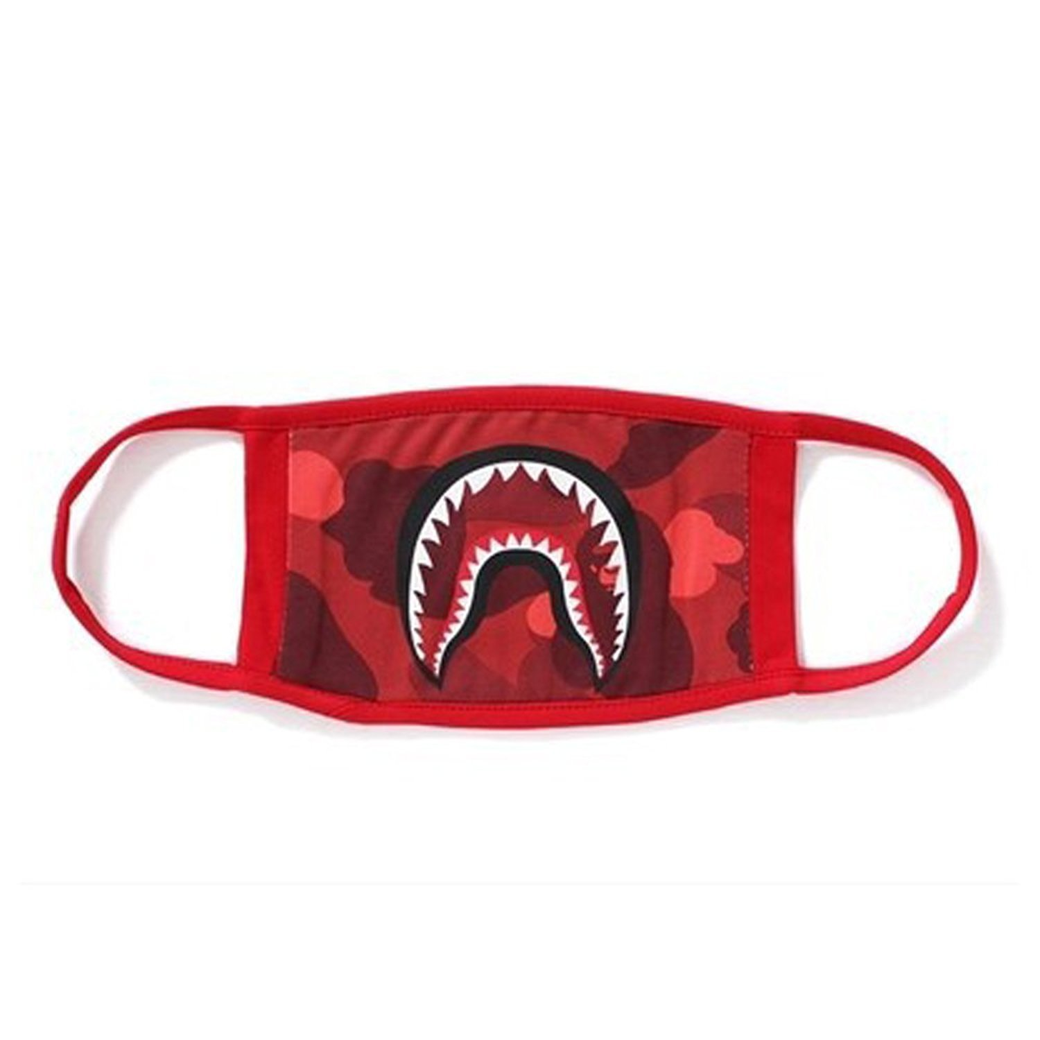 1 PackCamping First Aid Kits Bape Black Black Shark Face Mask