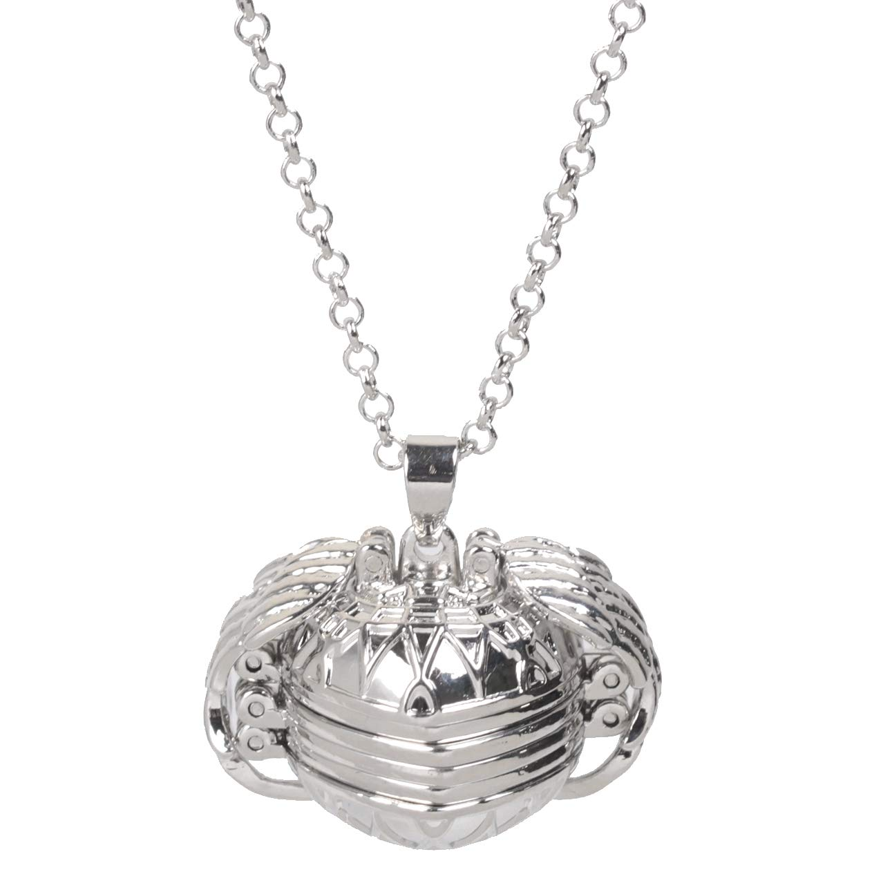Expanding Heart Photo Locket Ball Necklace Pendant for 4 Pictures Jewelry Charms for Women Clothing Accessory Birthday