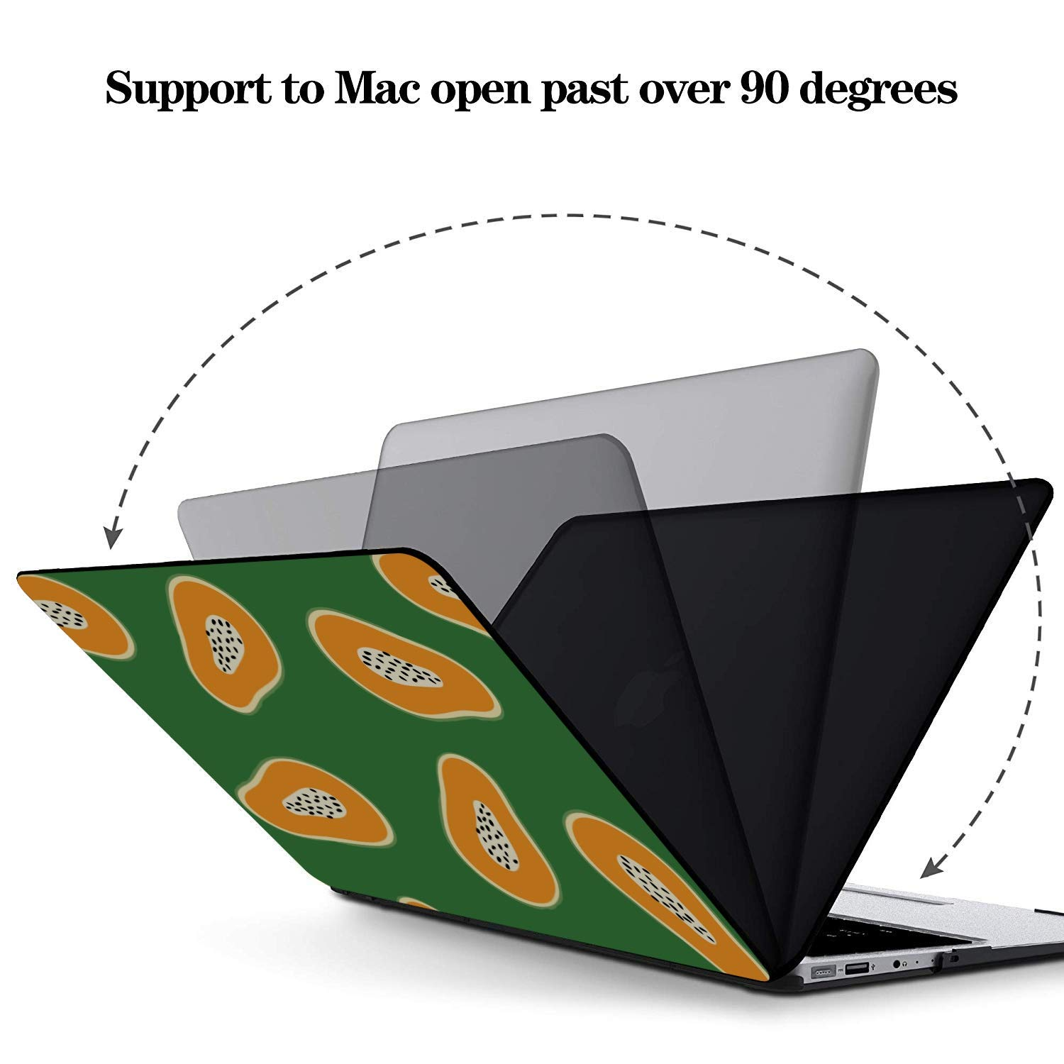MacBook Air 1466 Case Summmer Cute Fashion Fruit Papaya Plastic Hard Shell Compatible Mac Air 11 Pro 13 15 MacBook 15 Case Protection for MacBook 2016-2019 Version