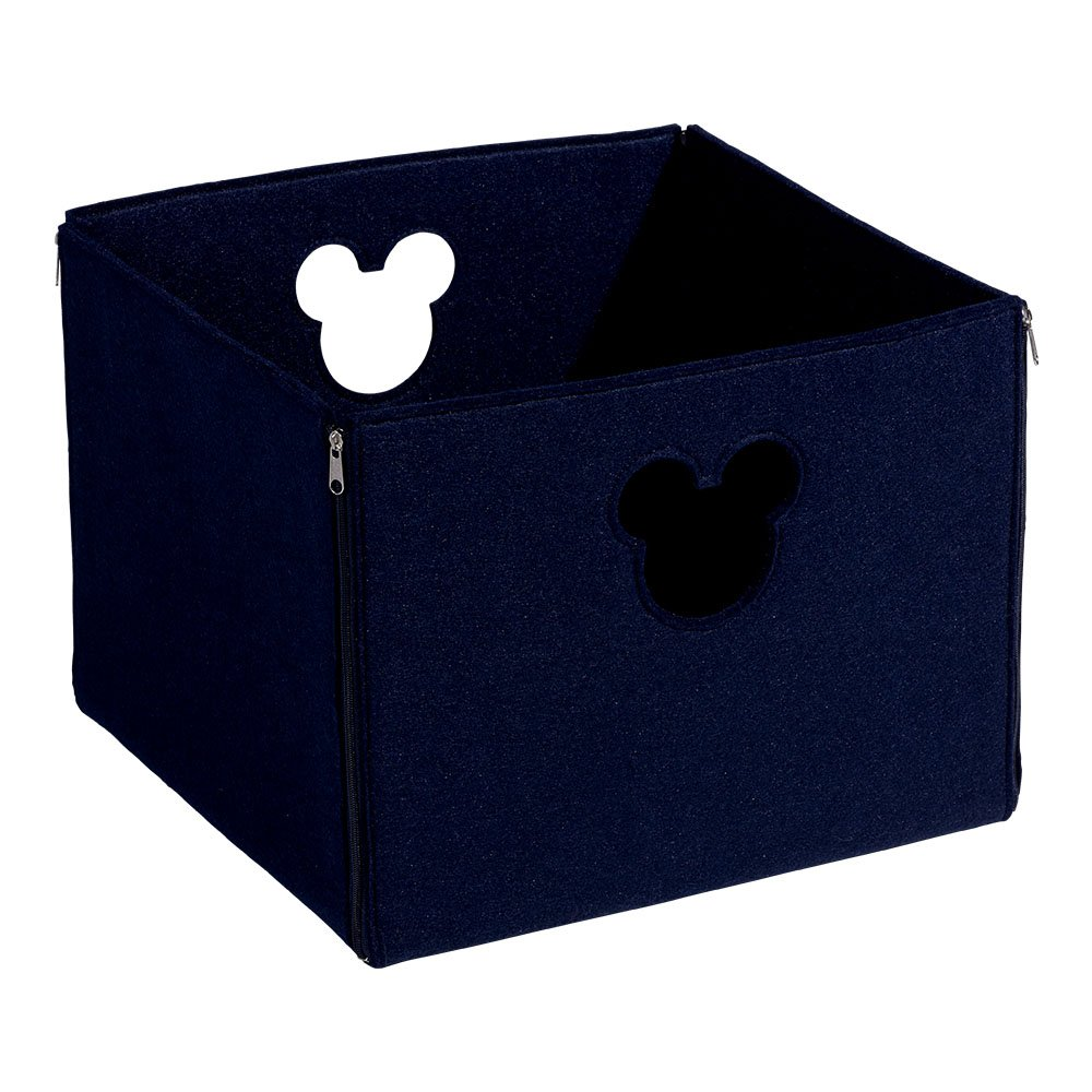 Ethan Allen | Disney Large Fantastic Felt Square Basket, Midnight Blue by Ethan Allen