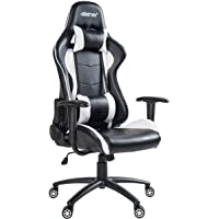 Merax Ergonomic High Back Swivel Racing Style Gaming Chair PU Leather with Lumbar Support and Headrest
