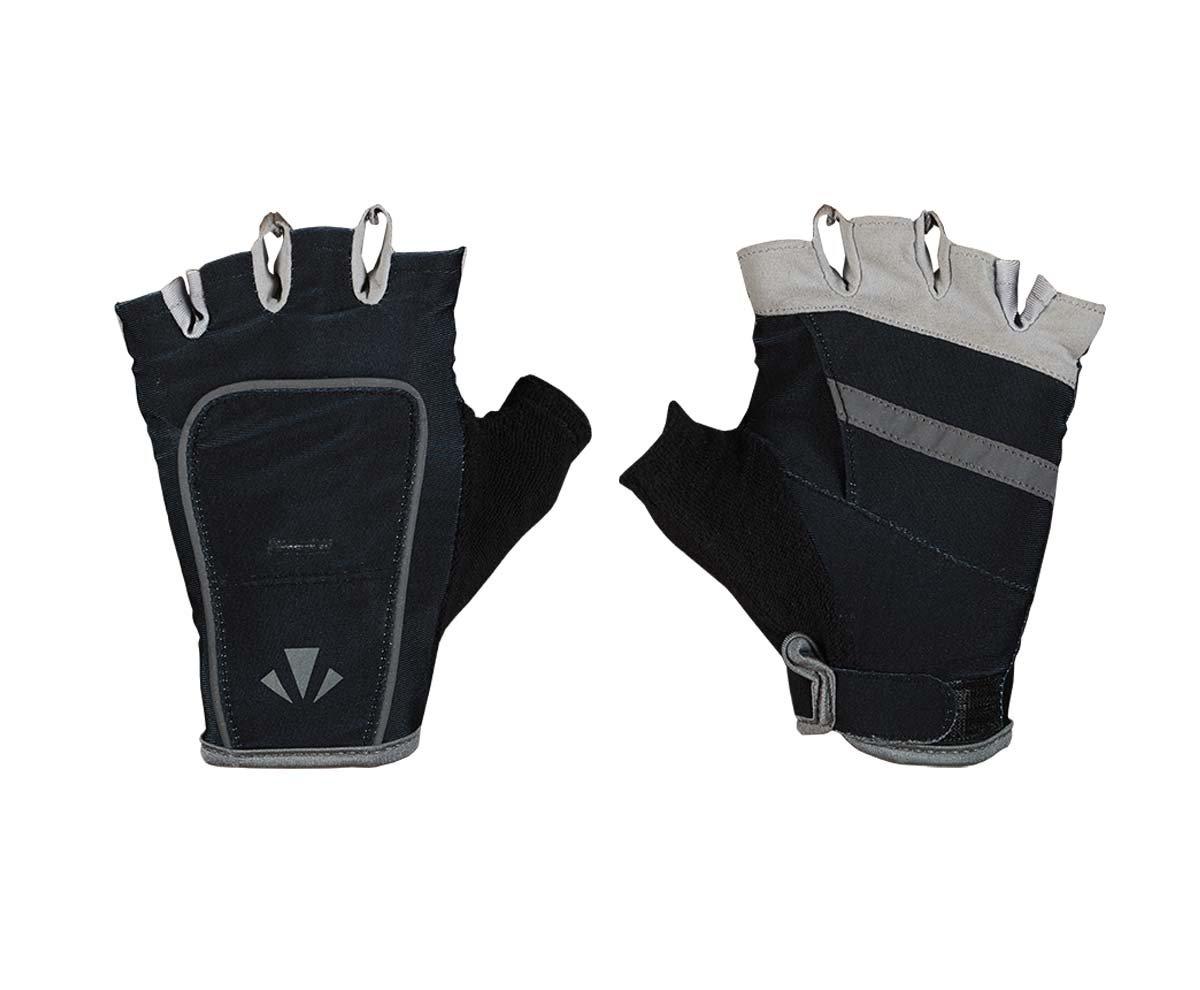 RunLites Mangata - Gloves with Lights - USB Rechargeable LED Lights - Half-Gloves (Black, Small)