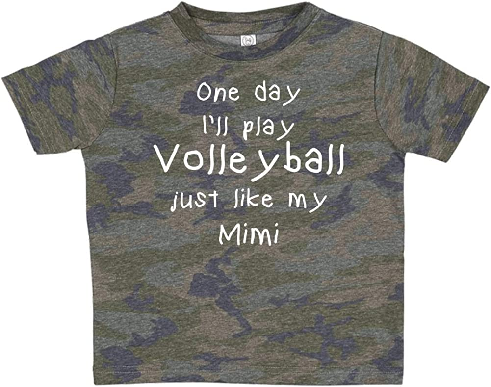Toddler//Kids Short Sleeve T-Shirt One Day Ill Play Volleyball Just Like My Mimi