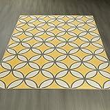 Ottomanson Studio Collection Star Trellis Design Area Rug, 5'0″ X 6'0″, Yellow For Sale