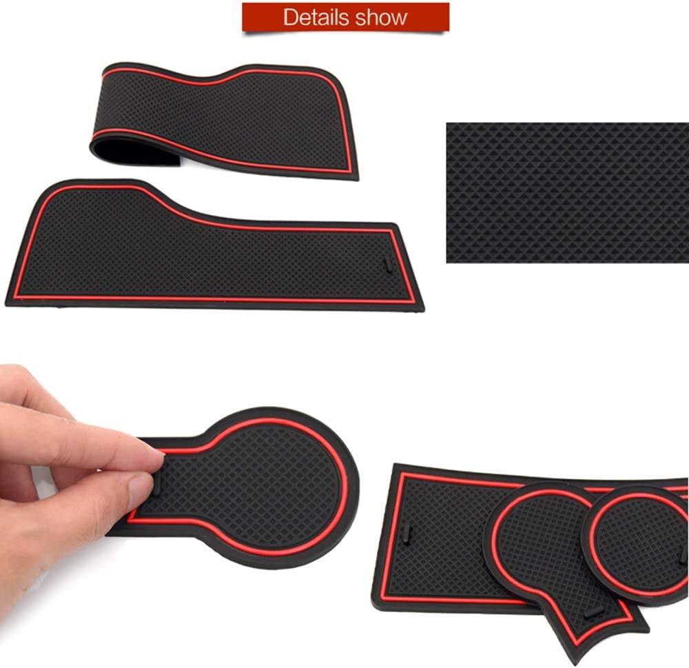 per Ford Focus 3 3.5 MK3 2015-2018 restyling ST RS Slot Gate Coaster Anti-Dirty Mat Groove Mat QSONGL Tappetino Antiscivolo