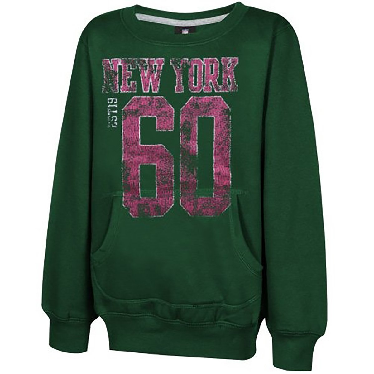 e8527ad8 Amazon.com: New York Jets Youth Girls Scoop Neck Crew Neck Green ...