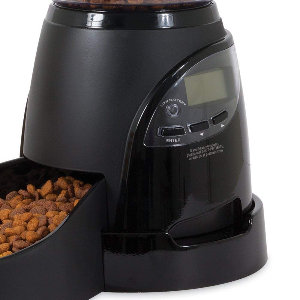 Aspen Pet Lebistro Programmable Cat and Dog Feeder 2 Sizes Black by Petmate (Image #5)