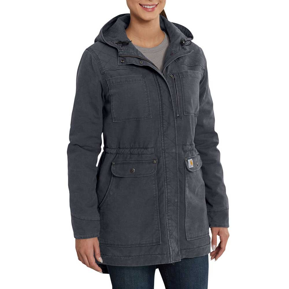 Carhartt Women's Crawford Sherpa Lined Coat, Coal, S